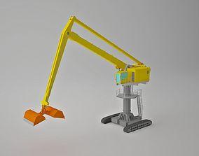 3D asset Crane the Sennebogen 8130 E