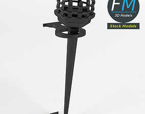 3D model Dungeon iron torch