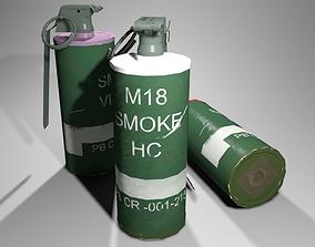 3D asset VR / AR ready M18 Smoke Grenade