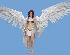 Angel Girl Game Ready 3D model