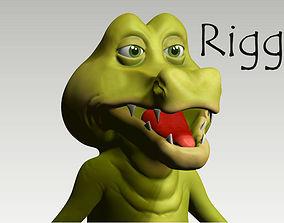 Cartoon crocodile 3D model