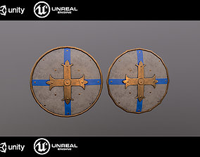 Medieval shield 3D model low-poly