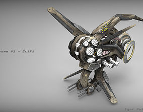 Drone V3 - SciFi 3D asset