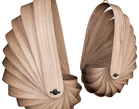 game-ready Armadillo Chair Shields low poly 3d model
