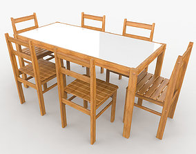 3D model seat Barbecue Table