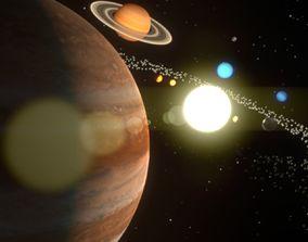 3D model The Solar System