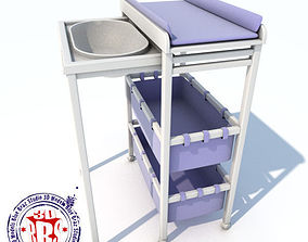 3D model changing table sliding