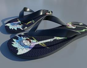 realtime Havaianas Rubber flip flops Sandals - 3D Mockup