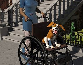 Wheelchair for DAZ Studio 3D