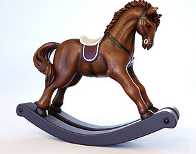 Rocking Horse 3D model low-poly