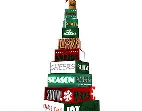 3D model happy Christmas Tree