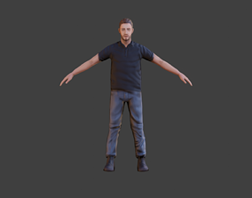 3D model Casual Man with Polo Shirt - With VRCHAT VISEMES