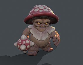Stylized character enemy mushroom 3D model