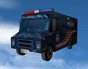 Police Van 3D asset