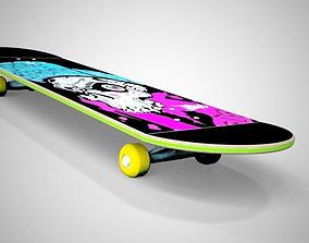 extreme 3D model Skateboard
