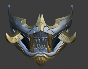 3D print model Cyberpunk Demon Oni Samurai mask from 3