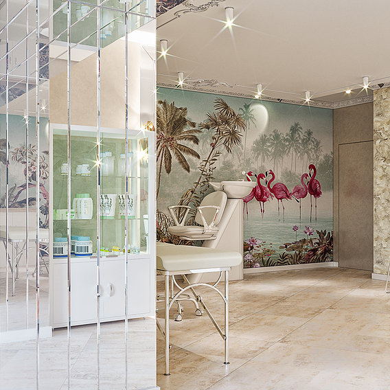 Beauty salon interior design by 3DAG