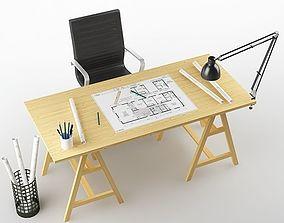 3D Architect desk 01