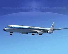 3D model Douglas DC-8-63 KLM Royal Dutch