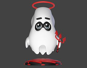 Boo the cute little ghost 3D model