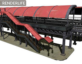 Elevated Train Station 3D model