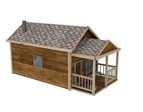 3D asset Western house