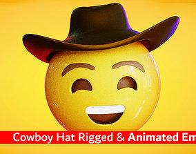 Cowboy Hat Animated Emoji Reaction 3D model