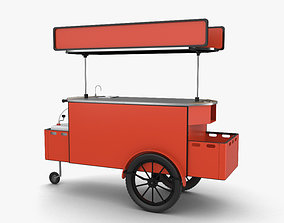 fast Food Cart 3D model