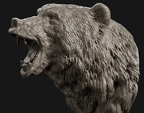3D printable model Bear Head Grin