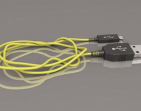 3D model Wacom Mini usb cable