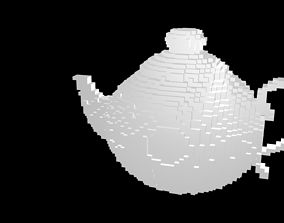 Kettle voxel 3D model