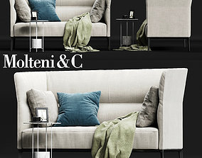 Molteni CAMDEN High Backrest Sofa 3D asset