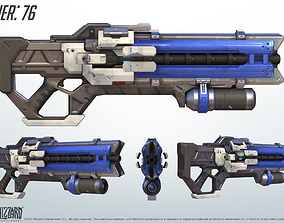 Soldier 76 Heavy Pulse Rifle 3D Model -