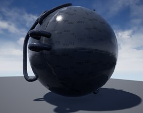 futuristic Time Machine 3D model animated
