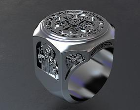 Saint Benedict Exorcism Ring 3D printable model