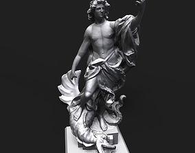 3D printable model Apollo slaying the Python