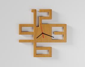 3D model Wooden wall watch clock