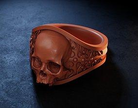3D printable model Elegant Gothic Skull Ring