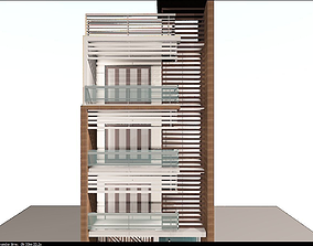 architectural elevation 3D model