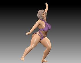 Young Woman body sculptures dancing 3D model