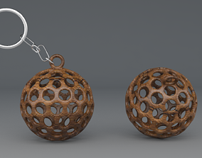 3D Printable hollow sphere keychain print