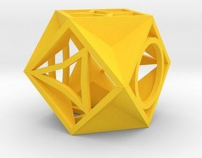 table keychains 3D print model Dice