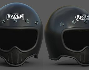 realtime Helmet scifi military combat 3d model low poly 1
