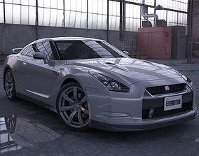 Nissan Gtr Silver 3D