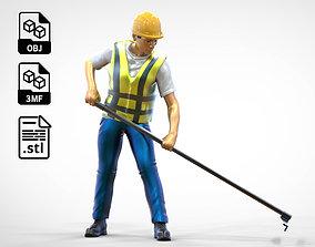 N2 Road Worker Raking 3D print model