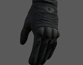 realtime Gloves Sci-fi military fantasy combat 3d model 1