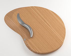 3D model Oaken Wooden Cutting Board for Kitchen
