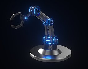 3D model Futuristic Industrial Factory Hand Robot