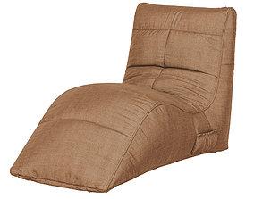 Frameless armchair Cinema brown 3D model