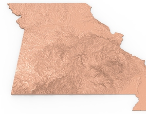 3D printable model Missouri Relief Map
